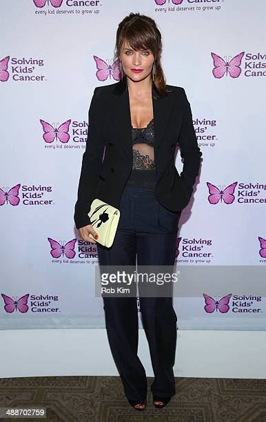 Helena Christensen attends the fifth annual Solving Kids' Cancer Spring Celebration at 583 Park Avenue on May 7 2014 in New York City