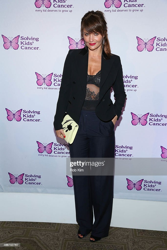 <a gi-track='captionPersonalityLinkClicked' href=/galleries/search?phrase=Helena+Christensen&family=editorial&specificpeople=202841 ng-click='$event.stopPropagation()'>Helena Christensen</a> attends the fifth annual Solving Kids' Cancer Spring Celebration at 583 Park Avenue on May 7, 2014 in New York City.