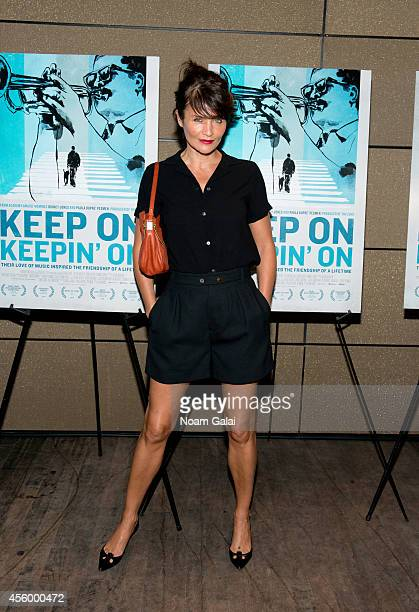 Helena Christensen attends the 'Keep On Keepin On' New York City Screening at Tribeca Grand Hotel on September 23 2014 in New York City