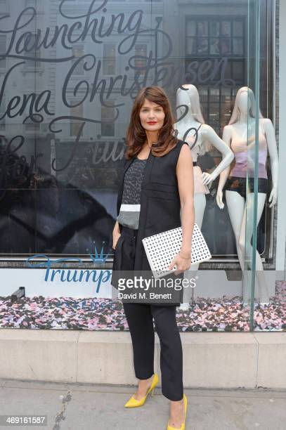 Helena Christensen attends the launch of Helena Christensen for Triumph at Fenwicks Bond Street on February 13 2014 in London England