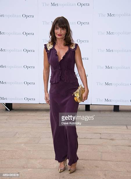 Helena Christensen attends the Metropolitan Opera 20152016 season opening night of 'Otello' at The Metropolitan Opera House on September 21 2015 in...