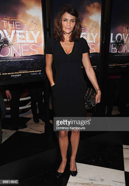 Helena Christensen attends the 'The Lovely Bones' premiere at the Paris Theatre on December 2 2009 in New York City