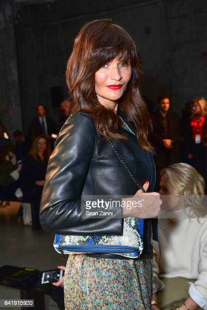 Helena Christensen attends the Zadig Voltaire show during New York Fashion Week at Skylight Modern on February 13 2017 in New York City