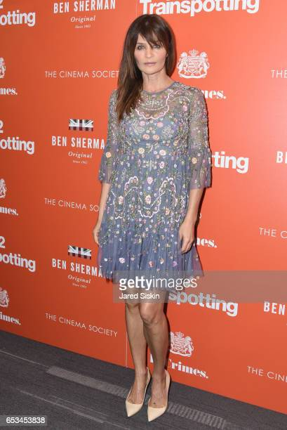 Helena Christensen attends TriStar Pictures The Cinema Society Host a Screening of 'T2 Trainspotting' at Landmark Sunshine Cinema on March 14 2017 in...