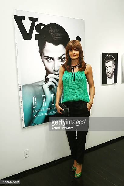 Helena Christensen attends 'Vs/Better' Charity Art Exhibition opening reception at Dillon Gallery on March 11 2014 in New York City