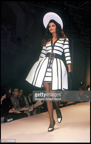 Helena Christensen Chanel Haute Couture fashion show spring summer 1992 collection in Paris