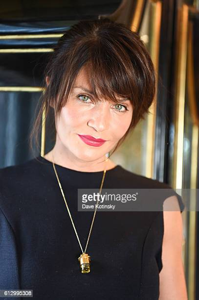 Helena Christensen Creative Director of strangelove nyc arrives at the VIP Luncheon launching the Niche Fragrance Line strangelove nyc at BG...