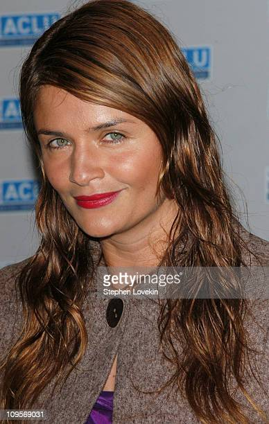 Helena Christensen during ACLU Freedom Concert Arrivals at Avery Fisher Hall at Lincoln Center in New York City New York United States
