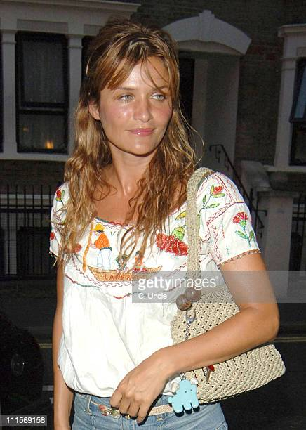 Helena Christensen during Helena Christensen Sighting At The Ivy in London July 13 2005 at Ivy Restaurant in London Great Britain
