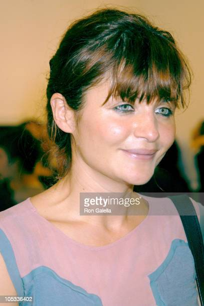 Helena Christensen during New York Art Auction to Benefit Downtown for Democracy at Phillips de Pury Luxembourg in New York City New York United...