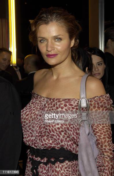 Helena Christensen during Yves Saint Laurent Presents Neon in Honor of Sylvie Fleury at Yves Saint Laurent Store in New York City New York United...