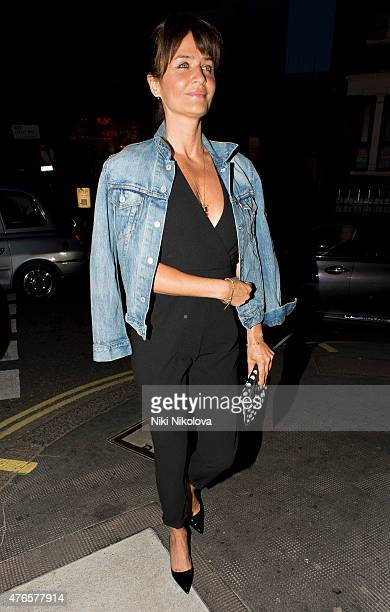 Helena Christensen is seen arriving at the Ivy restaurant Mayfair on June 10 2015 in London England