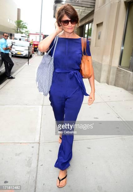 Helena Christensen is seen in Chelsea on June 28 2013 in New York City