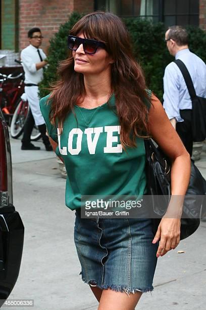 Helena Christensen is seen in new York City on September 08 2014 in New York City