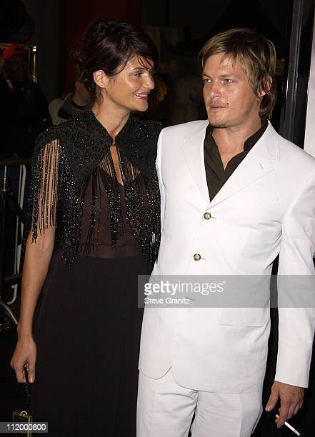 Helena Christensen Norman Reedus during 'Blade II' Premiere at Gramun's Chinese Theater in Hollywood California United States