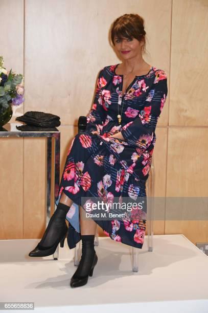 Helena Christensen speaks at the Debenhams Summer 17 Salon Show with global supermodel Helena Christensen and Emma Willis alongside a selection of...
