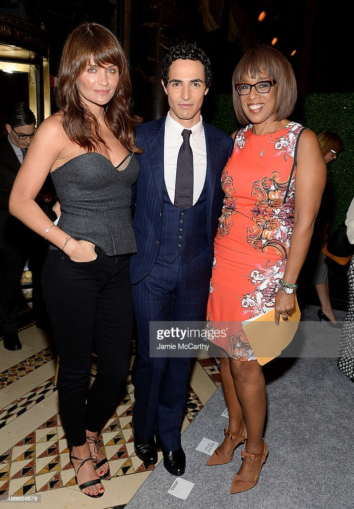 Helena Christensen Zac Posen and Gayle King attend Variety Power Of Women New York presented by FYI at Cipriani 42nd Street on April 25 2014 in New...