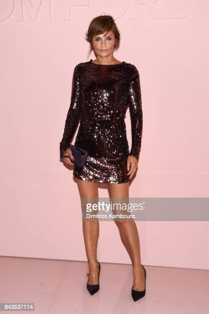 Helena Christiansen attends the Tom Ford Spring/Summer 2018 Runway Show at Park Avenue Armory on September 6 2017 in New York City