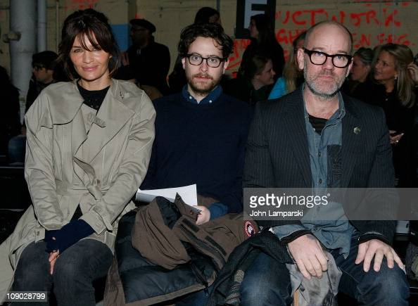Helena Christiansen Michael Stipe and guest attend the Edun Fall 2011 fashion show during MercedesBenz Fashion Week on February 12 2011 in New York...