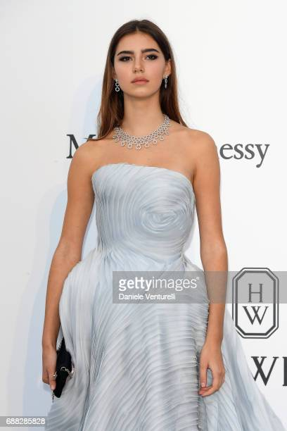 Helena Gatsby arrives at the amfAR Gala Cannes 2017 at Hotel du CapEdenRoc on May 25 2017 in Cap d'Antibes France