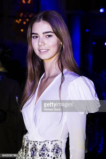 Helena Gatsby attends the Zuhair Murad Haute Couture Spring Summer 2017 show as part of Paris Fashion Week on January 25 2017 in Paris France