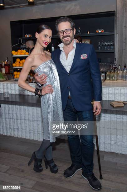 Helena Krodel and David Allen attend Gotham Magazine's Celebration of it's Late Spring Issue with Noah Syndergaard at 1 Hotel Brooklyn Bridge on May...
