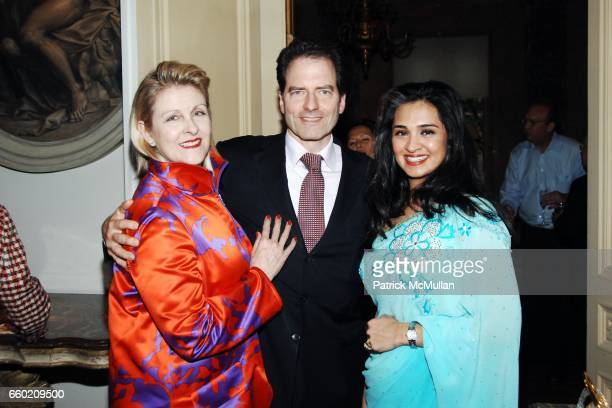 Helena Lehane Charles Masson and Uzma SarfrazKhan attend Reception for Geoffrey Bradfield 'EX ARTE' Book Launch at Carlton Hobbs Mansion on June 23...