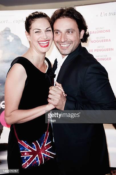 Helena Noguerra and Bruno Salomone Attends 'La Clinique de L'Amour' Paris Premiere at UGC Cine Cite des Halles on June 18 2012 in Paris France