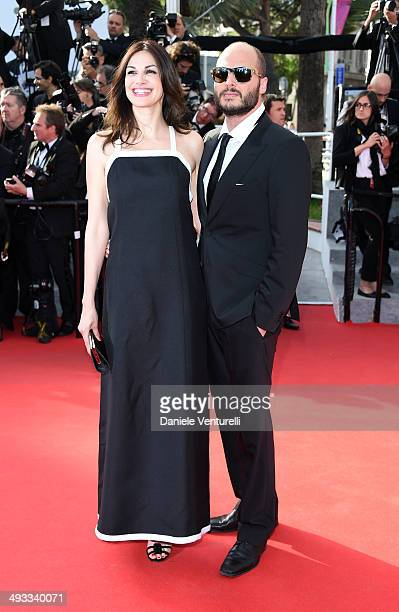 Helena Noguerra and guest attend the 'Clouds Of Sils Maria' Premiere during the 67th Annual Cannes Film Festival on May 23 2014 in Cannes France