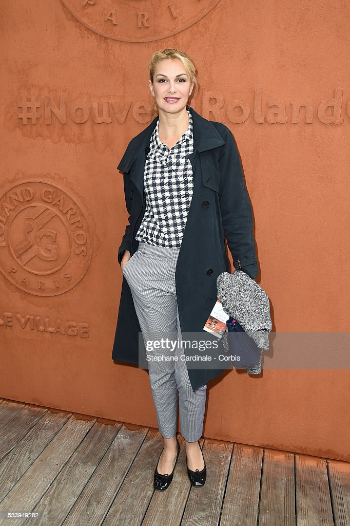 Helena Noguera attend the 2016 French tennis Open day 3, at Roland Garros on May 24, 2016 in Paris, France.