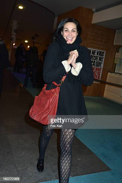 Helena Noguerra attends 'Mariage Pour Tous' at Theatre du RondPoint on January 27 2013 in Paris France