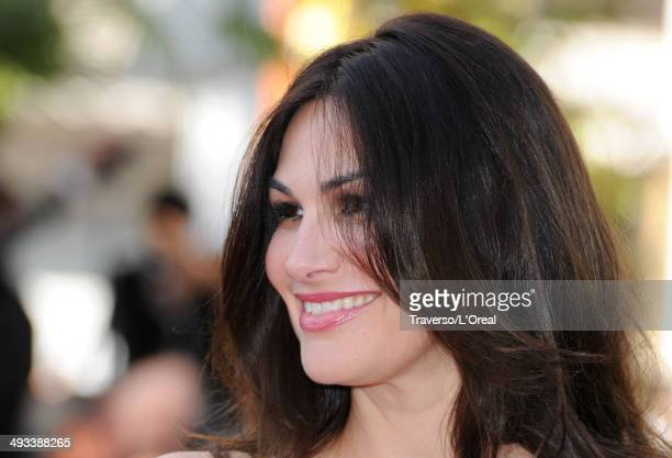 Helena Noguerra attends the 'Clouds Of Sils Maria' premiere during the 67th Annual Cannes Film Festival on May 23 2014 in Cannes France