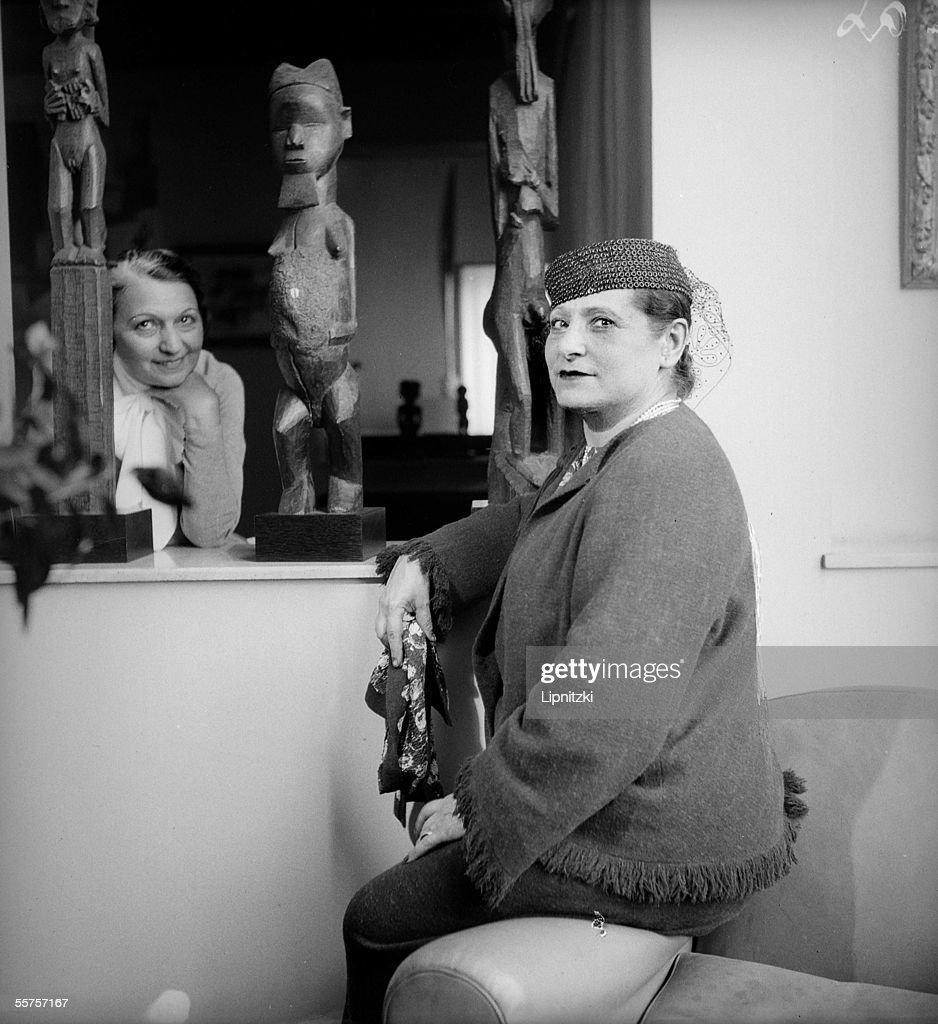 Helena Rubinstein American beautician France in August 1934 LIP10436206