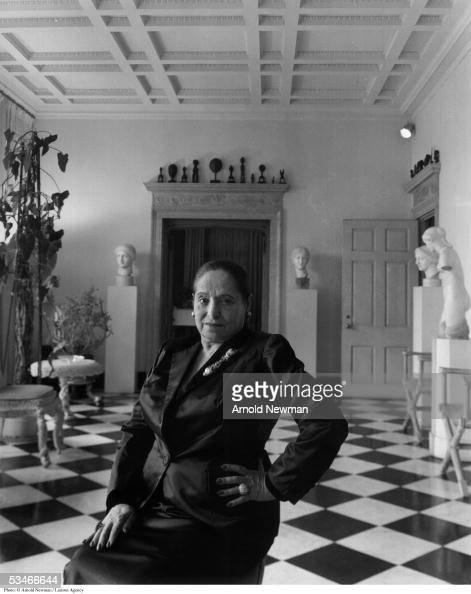 Helena Rubenstein beauty expert and patron of the arts poses for portrait at her home December 1 1948 in New York City