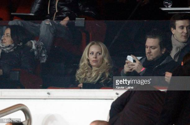 Helena Seger attends the French League 1 between Paris SaintGermain FC and Montpellier Herault SC at Parc des Princes on March 29 2013 in Paris France