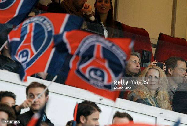 Helena Seger attends the French League 1 between Paris SaintGermain FC and OGC Nice at Parc des Princes on April 21 2013 in Paris France