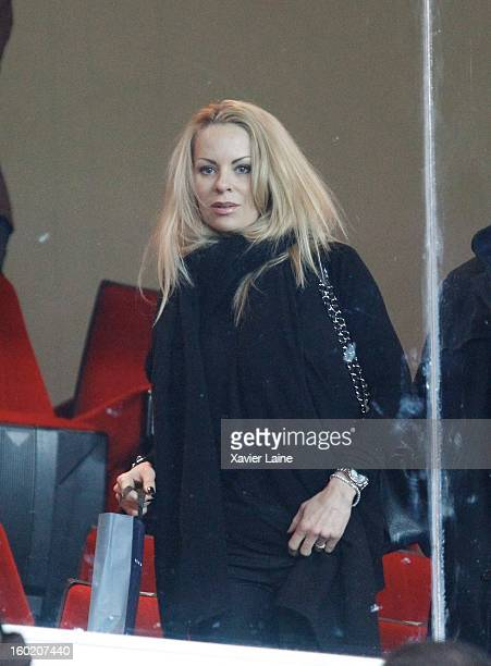 Helena Seger attends the French League one between Paris SaintGermain FC and Lille LOSC at Parc des Princes on January 27 2013 in Paris France
