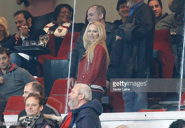 Helena Seger attends the French Ligue 1 between Paris SaintGermain FC and Olympique Lyonnais at Parc Des Princes on December 1 2013 in Paris France