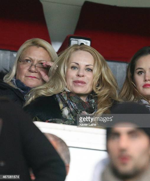 Helena Seger attends the French Ligue 1 between Paris SaintGermain FC and FC Lorient at Parc Des Princes on march 20 2015 in Paris France