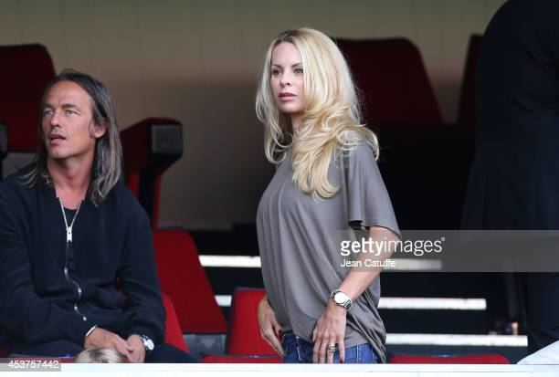 Helena Seger Ibrahimovic wife of Zlatan Ibrahimovic of PSG attends the French Ligue 1 match between Paris Saint Germain FC and SC Bastia at Parc des...
