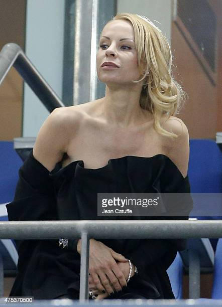 Helena Seger wife of Zlatan Ibrahimovic attends the French Cup Final between Paris SaintGermain and AJ Auxerre at Stade de France on May 30 2015 in...