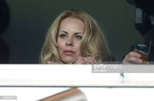 Helena Seger wife of Zlatan Ibrahimovic attends the french Ligue 1 match between Paris SaintGermain FC and Montpellier Herault SC at the Parc des...