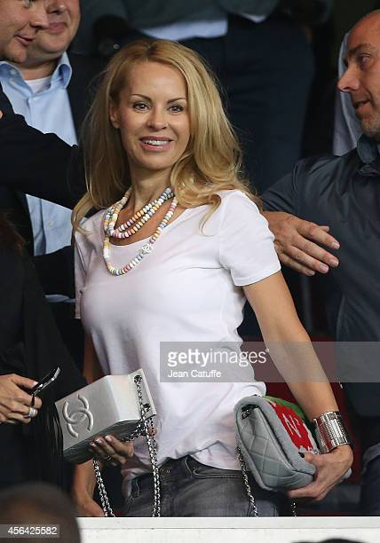 Helena Seger wife of Zlatan Ibrahimovic attends the UEFA Champions League Group F match between Paris SaintGermain FC and FC Barcelona at the Parc...