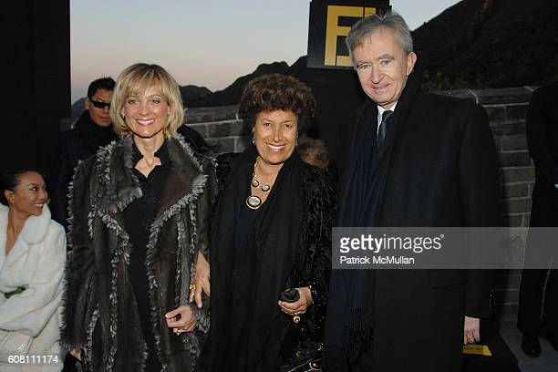 Helene Arnault Carla Fendi and Bernard Arnault attend FENDI Great Wall Of China Fashion Show Front Row and Runway at The Great Wall of China on...