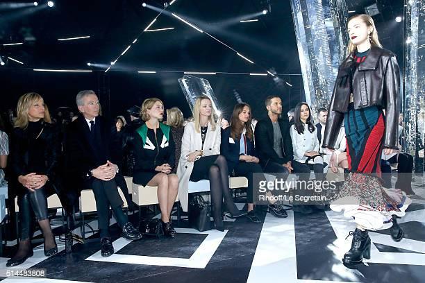 Helene Arnault her husband Owner of LVMH Luxury Group Bernard Arnault Lea Seydoux Louis Vuitton's executive vice president Delphine Arnault Alicia...