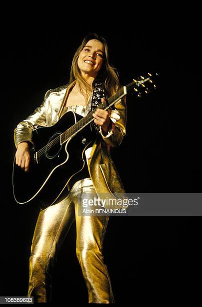 Helene at concert in Bercy in Paris France on January 14 1995