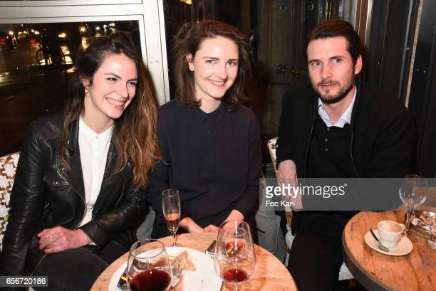 Helene Aubinais photographer Claire Deserable and Olivier Quiviger attend 'Apero Mecs A Legumes' Party Hosted by Grand Seigneur Magazine at the...