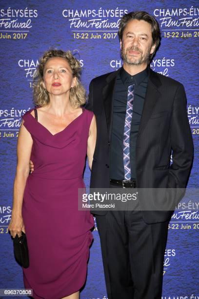 Helene Babu and Thibault de Montalembert attend the 6th 'ChampsElysees Film Festival' at Cinema Gaumont Marignan on June 15 2017 in Paris France