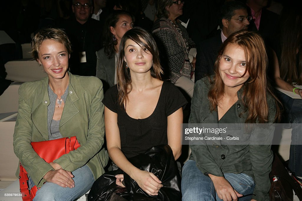 Helene de Fougerolles, Barbara Schulz, and Virginie Ledoyen at the 'Celine ready-to-wear Spring-Summer 2006 collection' fashion show.