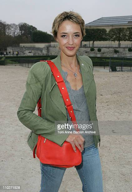 Helene De Fougerolles during Paris Fashion Week Pret a Porter Spring/Summer 2006 Celine Departures at Tuileries in Paris France